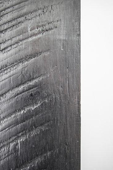 Ventana (detalle), madera y grafito 150cm x 15cm x 3cm 2012.