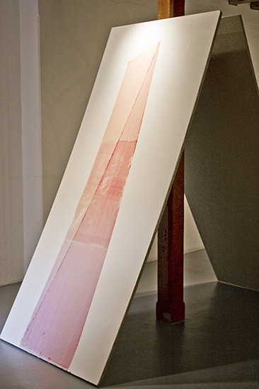 Rojas, serigrafía sobre madera, 2,44m x 1.50m, 2009.