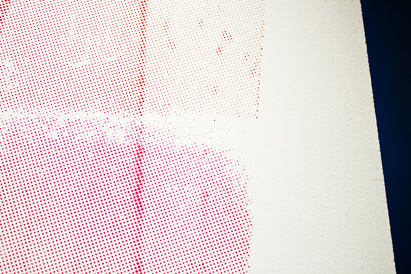 Rojas(detalle), serigrafía sobre madera, 2,44m x 1.50m, 2009.