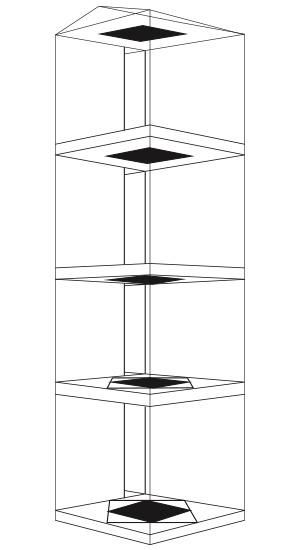 Fundición, diagrama de instalación en los pisos 3,4,5 y 6, La otra 2011