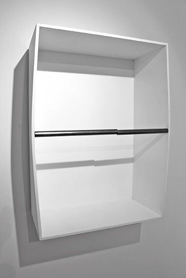 Horizontal(maqueta), grafito, aluminio y madera, 70cm x 50cm x 25cm, 2013.