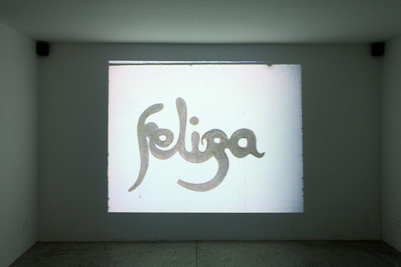 """Luis Ernesto Arocha Hoy Feliza, 1970 Video Blanco y Negro; sonido 16 mm; 3'20"""""""