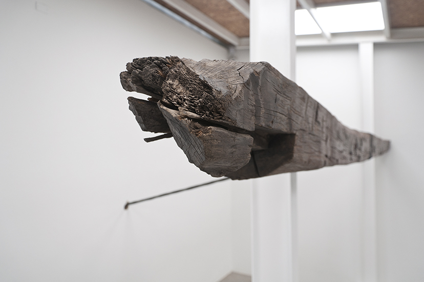 Santiago Reyes Villaveces, Trenza, madera y alambre de acero, 545 x 300 x 450cm, 2015