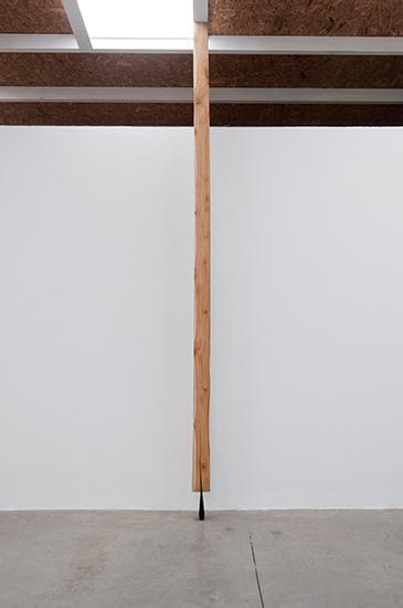 Santiago Reyes Villaveces Columna, cuña metálica 5cm x 20cm, viga de madera medidas variables 2014