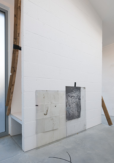 Sealing (Iteration 1) 2016. wrecking bar, metal cables and timber. 2.70m x 3.5m x 0.7m