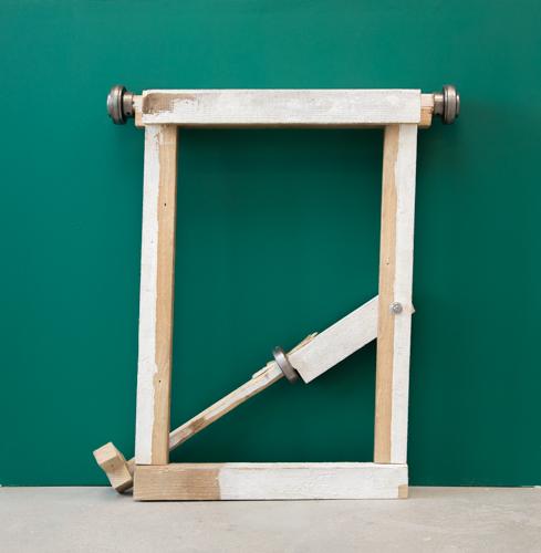 کمزور (looser) / From Series Brujitas, Found wood and ball bearings . 100cm x 70cm x 15cm