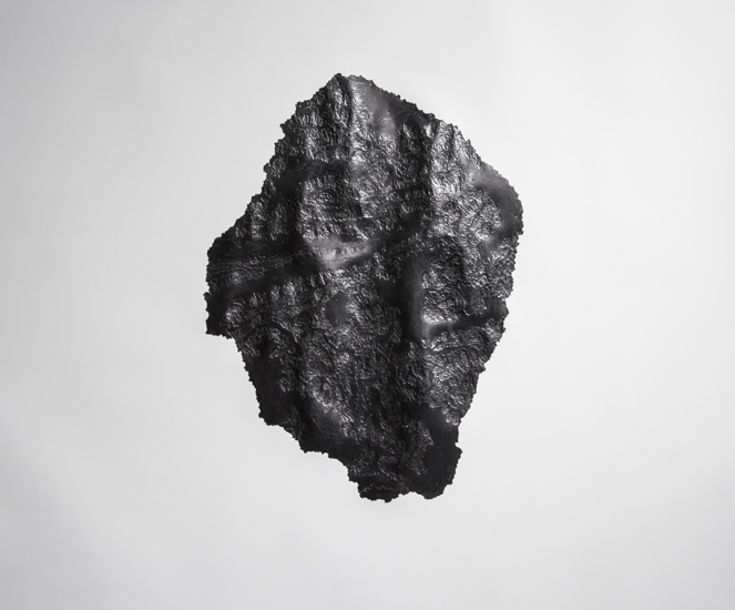 Goodwill Moon Rock (Italy), 2017 Graphite and paper 115 x 115 cm