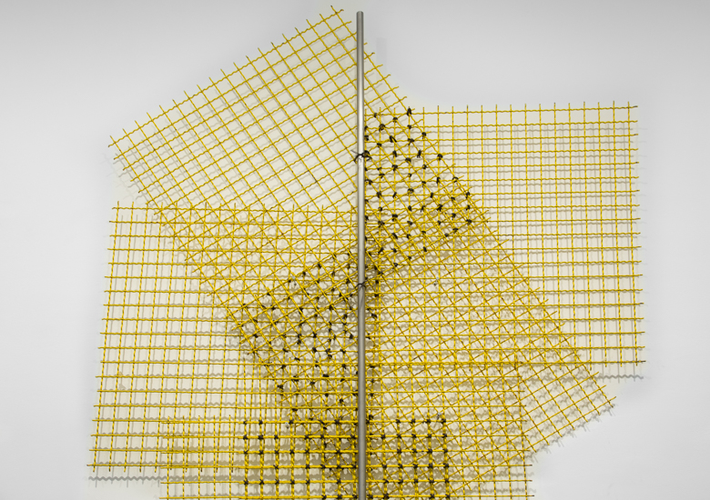 Encage (Iteration), 2017 Stainless Steel, metal mesh, metal wire and bronze 393 x 180 x 8 cm