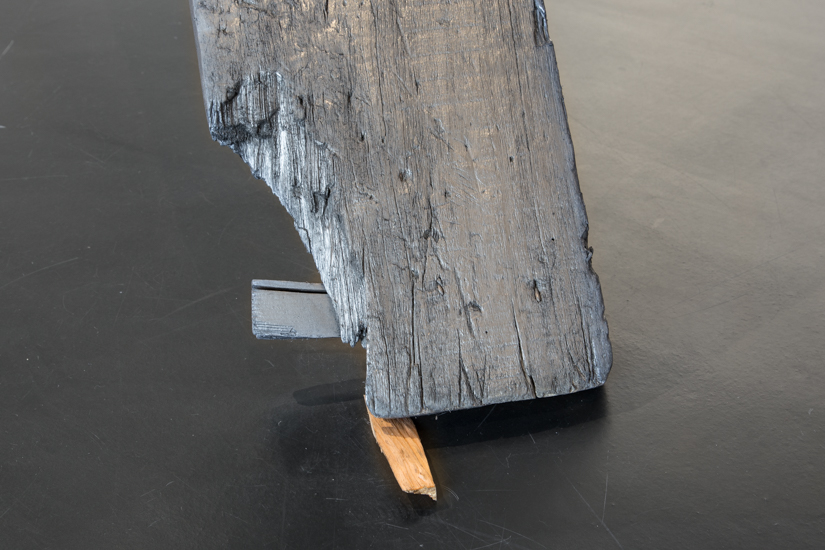 One way Direction, 2013 Wood, graphite and ball bearing  300 x 250 x 15 cm