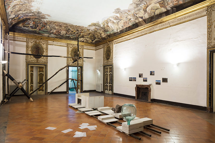 Exhibition View of Otium – Corruption and the Dash – November 18 / December 9 2017 – Residency 80121 at Palazzo Marigliano, Naples – C.sy of the Artists – Photo Amedeo Benestante, Napleso Benestante, Naples